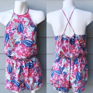 American Eagle Outfitters Halter Floral Romper
